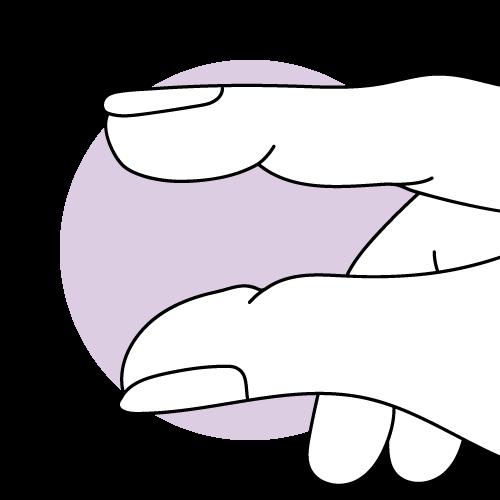 Grafische Darstellung von ausbleibendem Zervixschleim nach dem Eisprung.