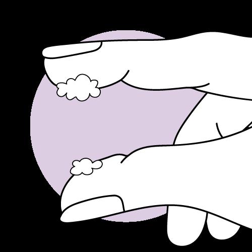 Klumpiger Zervixschleim zum Eisprung hin in grafischer Darstellung.