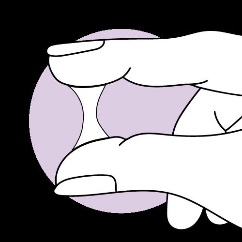 Grafische Darstellung von trübem Zervixschleim zum Eisprung hin.