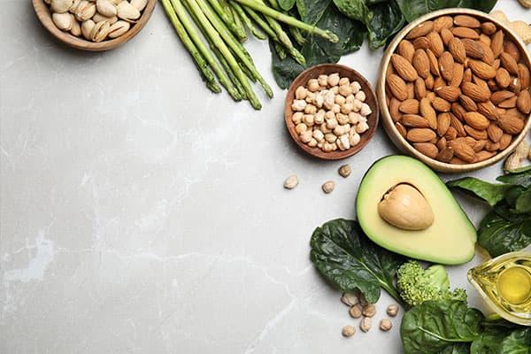 Lebensmittel mit viel Vitamin E - eine vitaminreiche Ernährung kann die Spermienqualität verbessern.